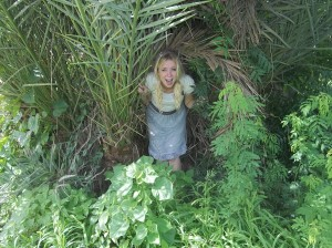 Lindsay in the jungle