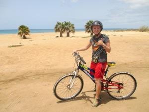 Lindsay Mission - On a bike - Aug 2014